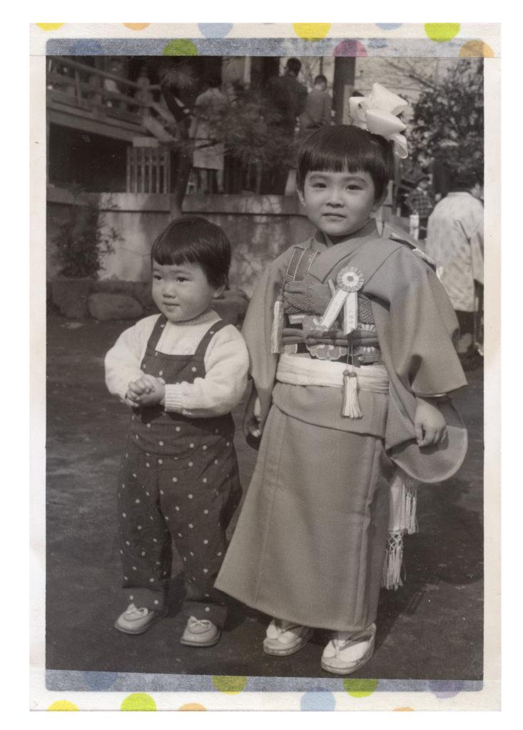 三歳の祝い 晴れ着が母の手づくり
