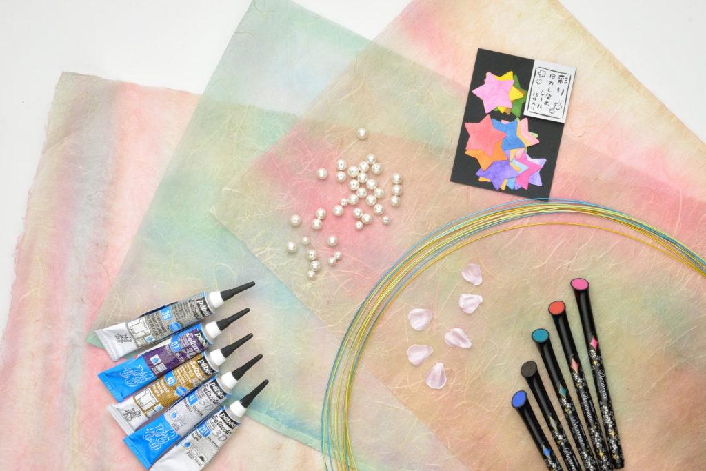土佐雲竜顔料染の和紙で作る絆アート